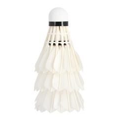 Bílé badmintonové míčky z pěří NILS NL6203 LED 3ks