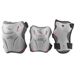 Souprava chráničů NILS Extreme H508 šedá-růžová