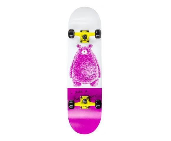 Skateboard NILS Extreme CR3108 SB Pink Bear