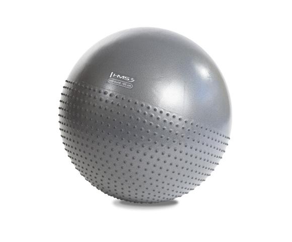 Masážní gymnastický míč HMS YB03 65 cm šedý