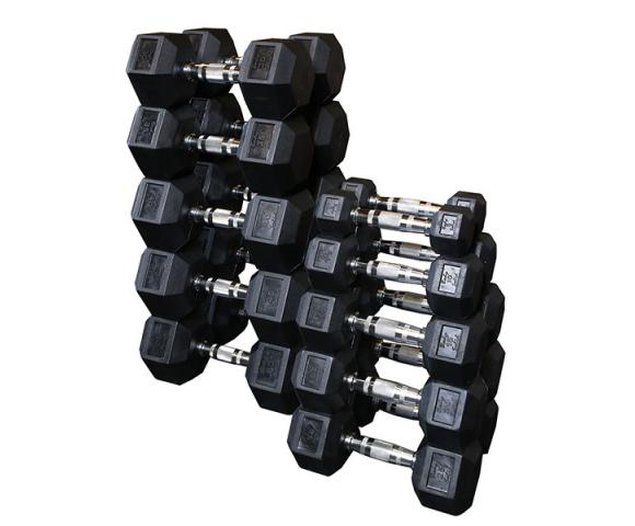 Sada jednoručních hexa činek BodySolid 2 x 27,5 kg