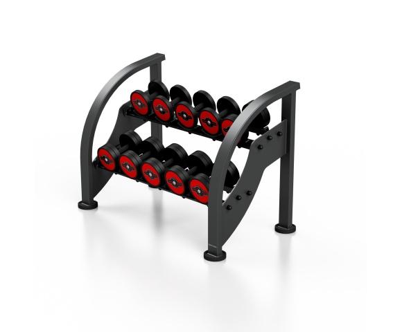 Sada červených činek se stojanem MARBO MF-S002 5-15 kg (10 párů)