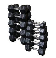 Sada jednoručních hexa činek BodySolid 2 x 25 kg