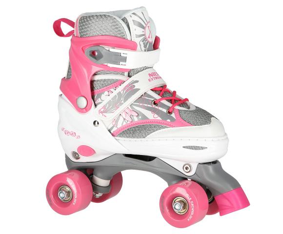 Quad kolečkové brusle NILS Extreme NQ1002 růžové