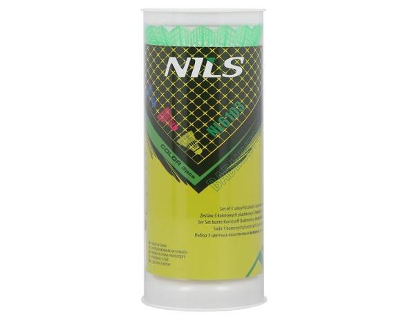 Barevné badmintonové míčky NILS NL6103 3ks