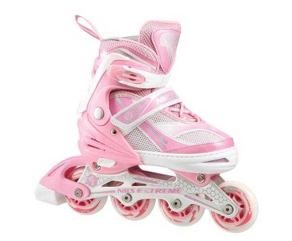 Dětské kolečkové brusle NILS EXTREME NA 1123 A růžové